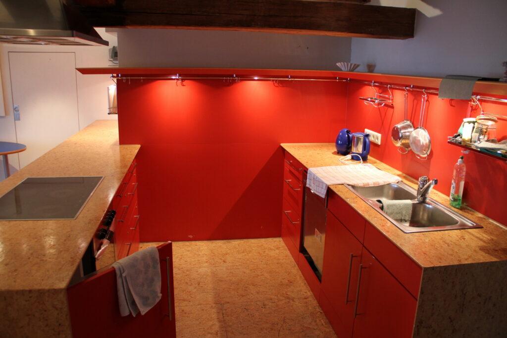 Rote Küche Dachgeschoss Schloss Ebersberg