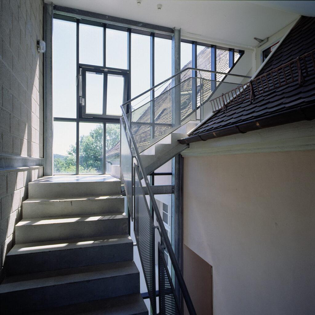 Außentreppe zum Dachgeschoss Schloss Ebersberg