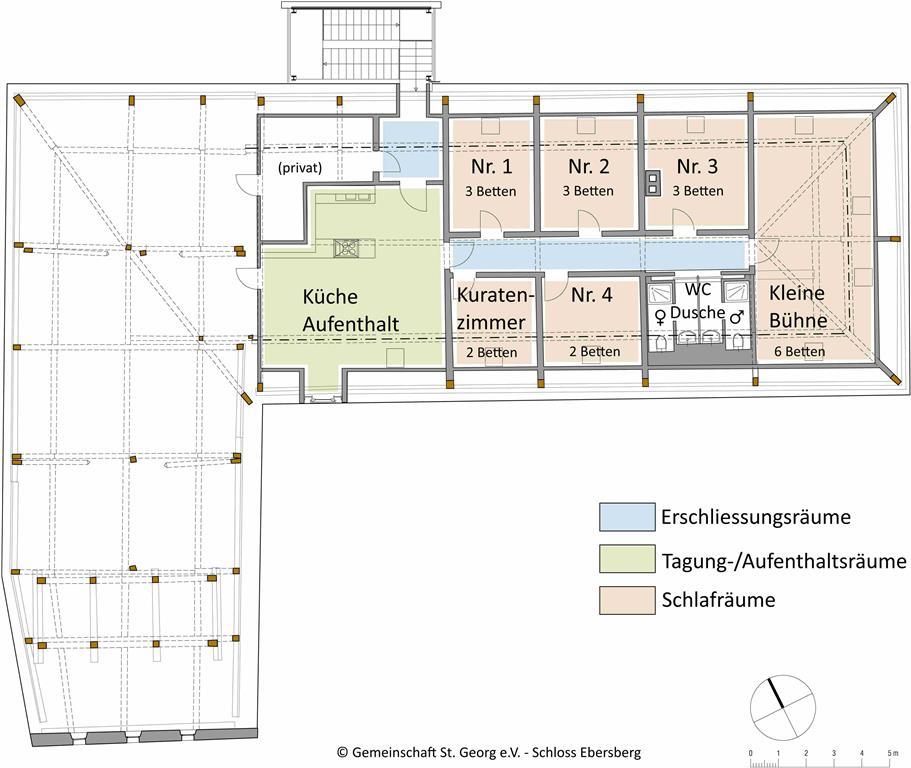 Raumplan Dachgeschoss Schloss Ebersberg