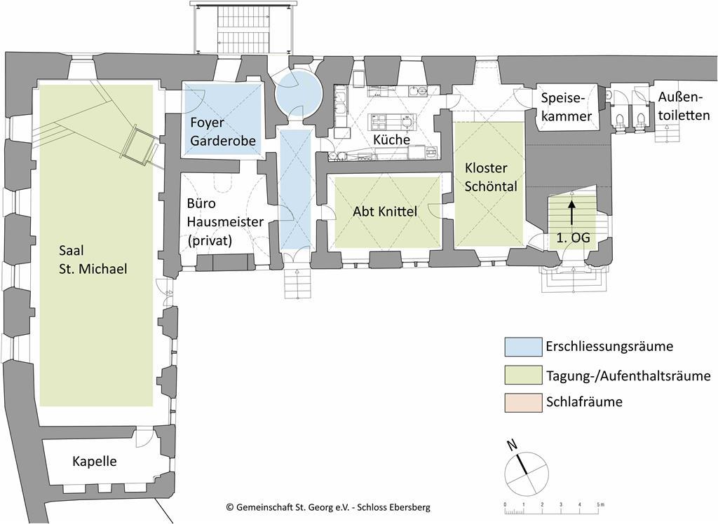Raumplan Erdgeschoss Schloss Ebersberg