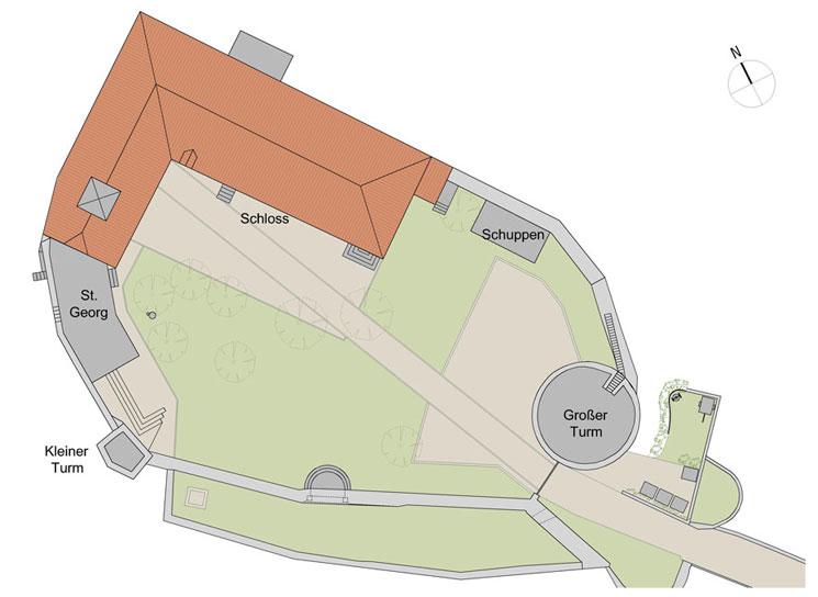 Lageplan Außenbereich Schloss Ebersberg